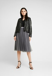Lace & Beads - VAL SKIRT - A-Linien-Rock - charcoal - 1