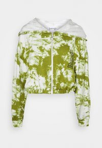 KENDALL + KYLIE - ZIPPER HOODY CROPPED - Sweater met rits - white/khaki - 4