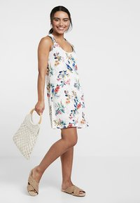 s.Oliver - HOLLY_BEACHDRESS - Jersey dress - white print - 1
