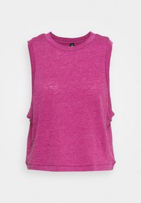 ALL THINGS FABULOUS CROPPED MUSCLE TANK - Top - boysenberry washed
