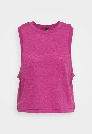 ALL THINGS FABULOUS CROPPED MUSCLE TANK - Débardeur - boysenberry washed