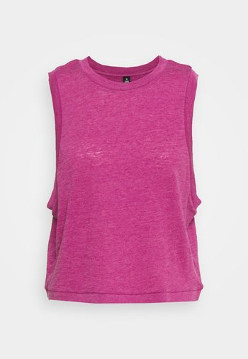 ALL THINGS FABULOUS CROPPED MUSCLE TANK - Topper - boysenberry washed