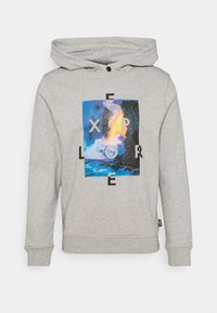 HOODY WITH NEW - Sweatshirt - light grey melange