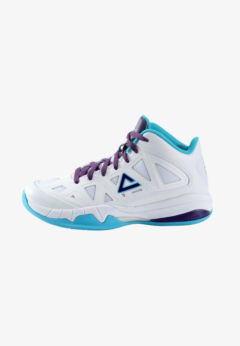 PEAK - CAROLINA - Basketball shoes - weiß - blau