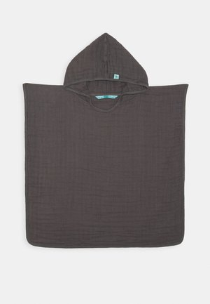 PONCHO  WITH WINDOW PACKAGING - Badetuch - anthracite