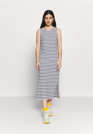PCKIDI MIDI TANK DRESS - Jerseyjurk - bright white/maritime blue