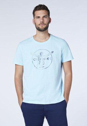 MIT CHIEMSEE JUMPER FRONTPRINT - T-shirt print - coryda blue