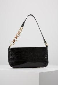 Topshop - SPIN SNAKE SHOULDER - Handbag - black - 0