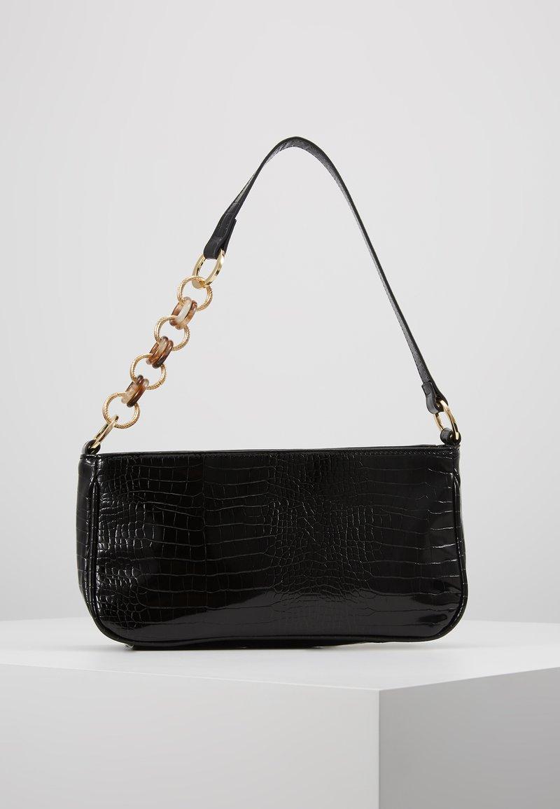 Topshop - SPIN SNAKE SHOULDER - Handbag - black