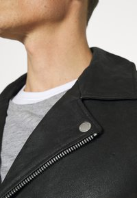Lindbergh - BIKER JACKET - Leather jacket - black - 5