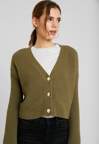 Object Petite - OBJCAMDEN CARDIGAN REPEAT - Cardigan - burnt olive - 3
