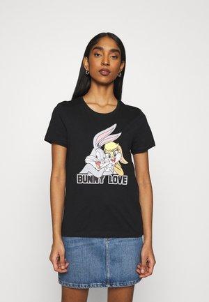 ONLBUNNY LOVE LIFE BOX - Print T-shirt - black/bunny love