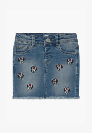 NMFMINNIE BATEGANI - Denim skirt - medium blue denim