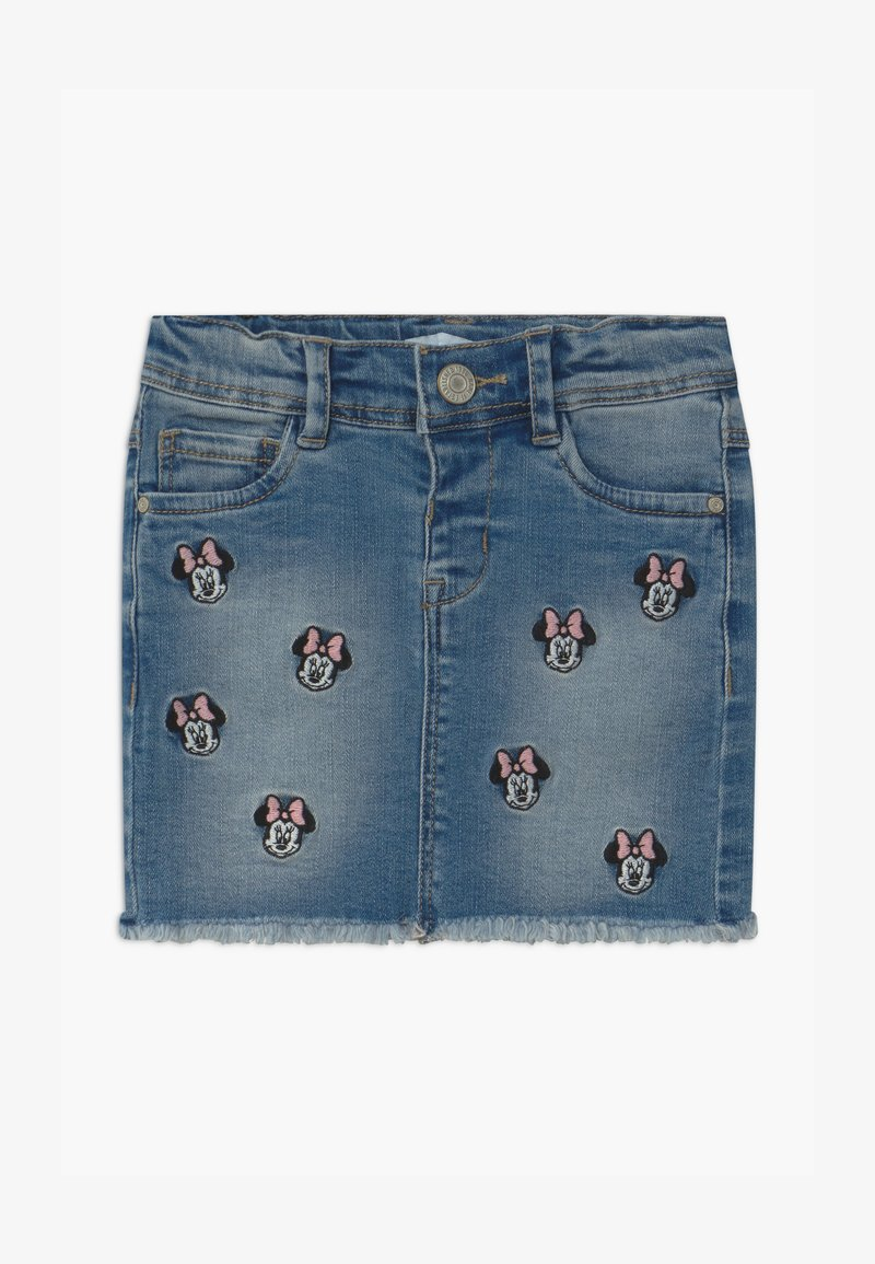 Name it - NMFMINNIE BATEGANI - Denim skirt - medium blue denim