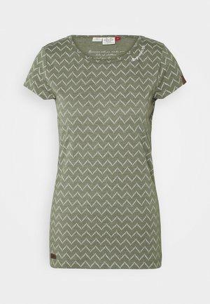 ZIG ZAG - T-shirts med print - olive