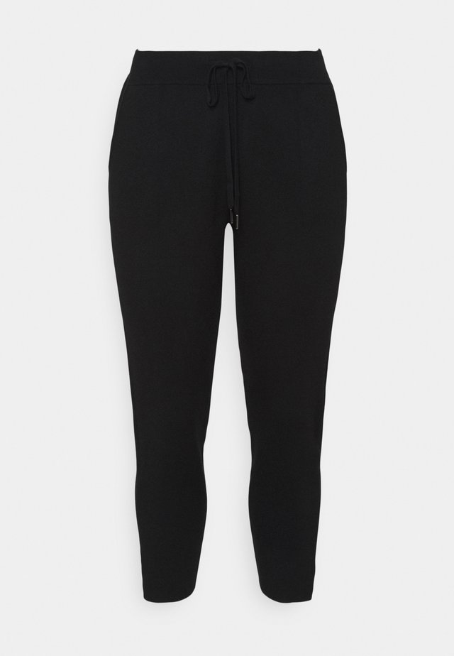 KITY PANTS - Kangashousut - black deep