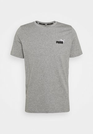 EMBROIDERY LOGO TEE - Basic T-shirt - medium gray heather