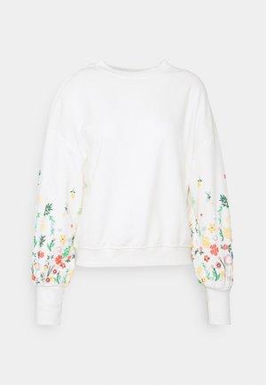 ONLBROOKE O NECK FLOWER - Sweatshirt - cloud dancer
