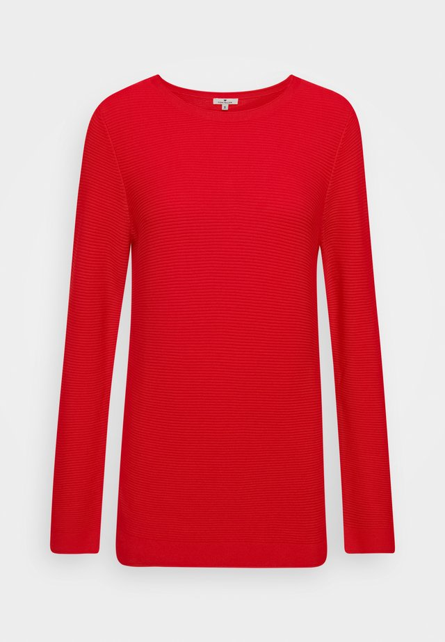 SWEATER NEW OTTOMAN - Trui - strong red