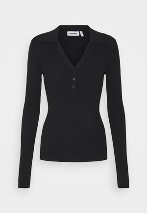 FLAVIA - Long sleeved top - black