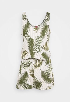 OVARALL - Jumpsuit - green/white