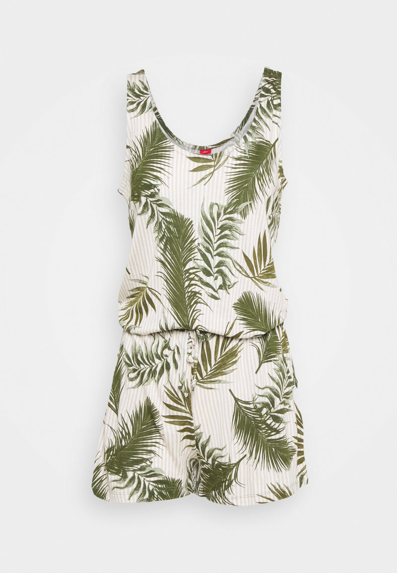 s.Oliver - OVARALL - Jumpsuit - green/white