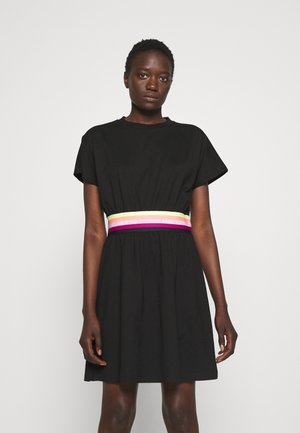 LOGO TAPE DRESS - Robe d'été - black