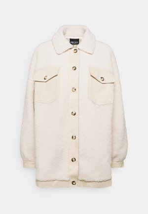 PCASILLA JACKET  - Halflange jas - white pepper