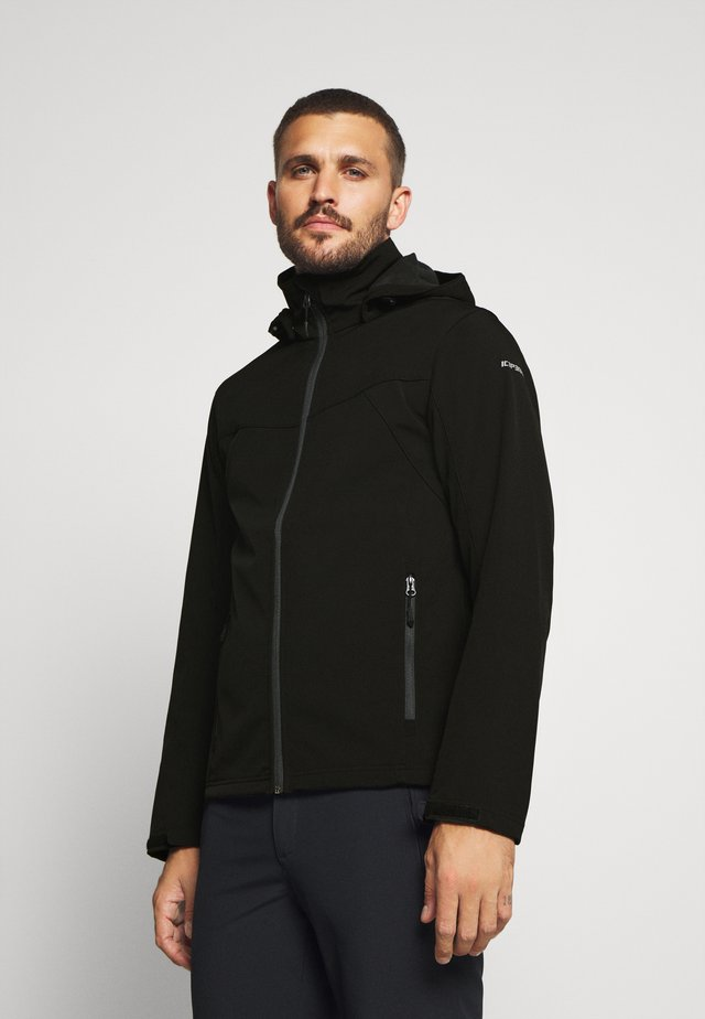 BIGGS - Chaqueta softshell - black