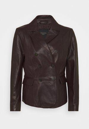 UNIGENO - Kožená bunda - dunkelbraun