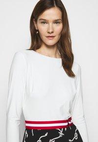 Lauren Ralph Lauren - PRINTED MATTE DRESS BELT - Day dress - black/col cream - 3