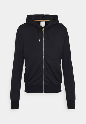 GENTS ZIP THROUGH TAPED SEAMS HOODY - Felpa aperta - navy