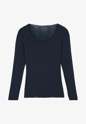 LANGARMSHIRT AUS CASHMERE ULTRALIGHT - Pyjama top - dark blue