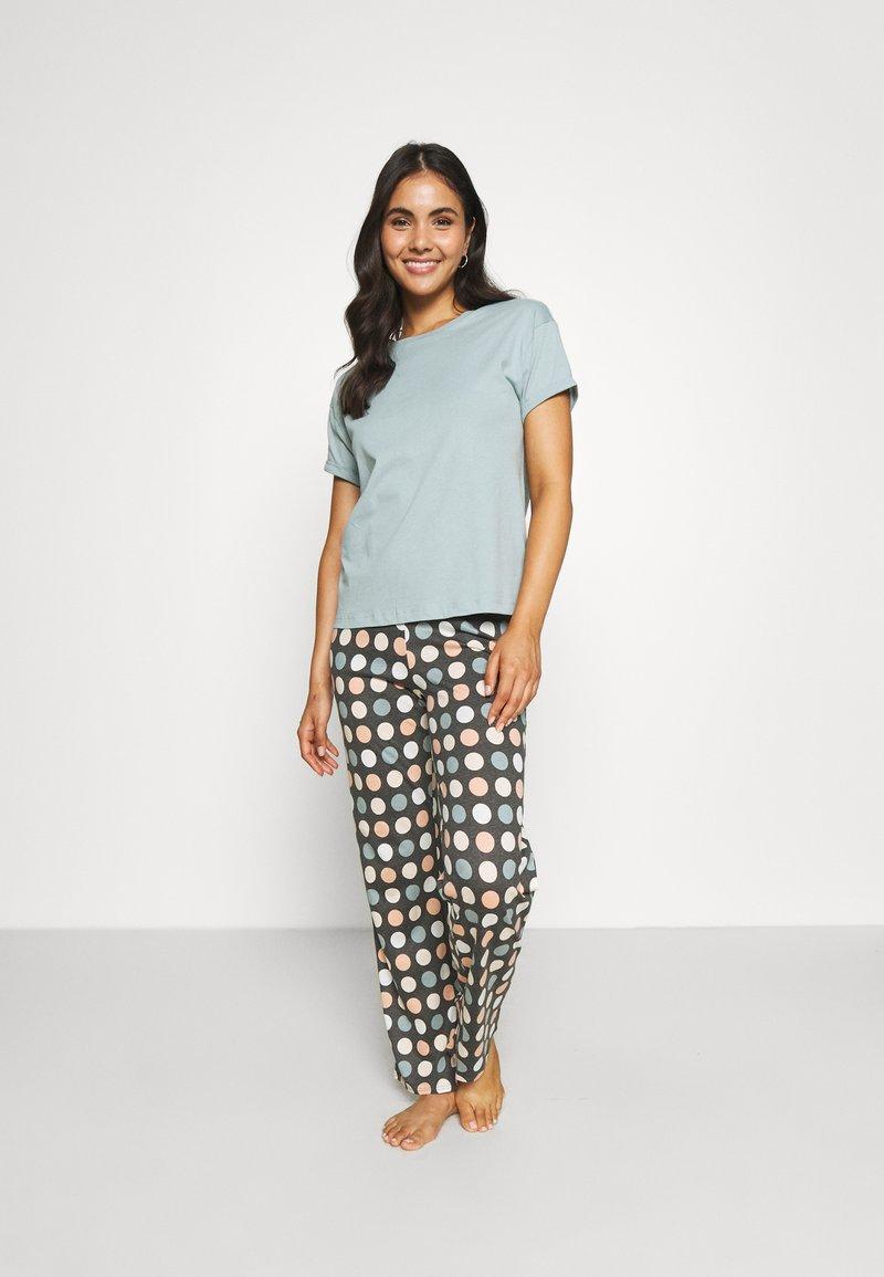 Marks & Spencer London - SPOT  - Pyjamas - aqua mix