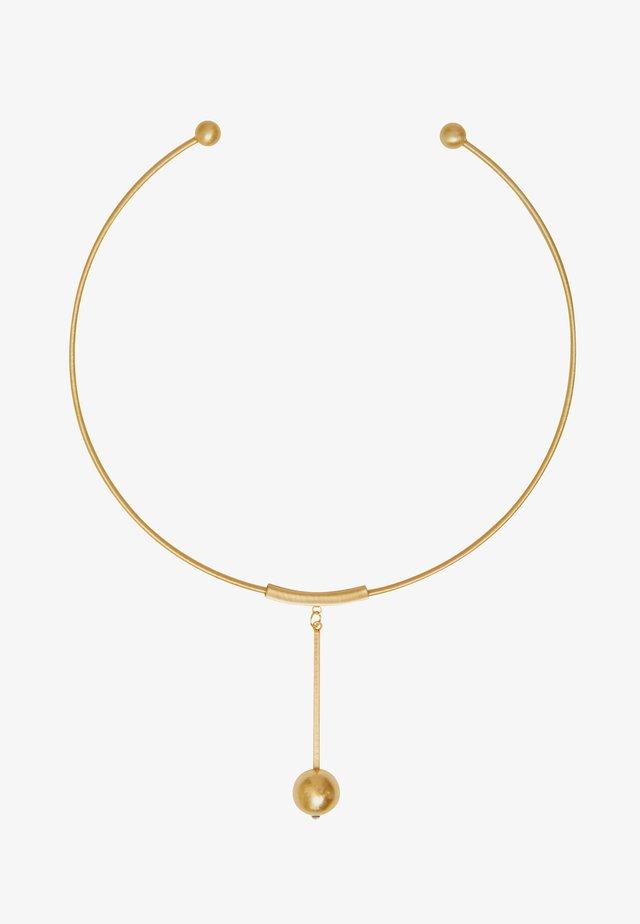 TABITHA CIRCLE BAR - Ketting - gold plating