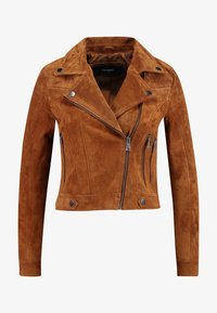 Vero Moda Petite - VMROYCESALON  - Leather jacket - cognac - 4