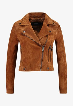 VMROYCESALON  - Leather jacket - cognac