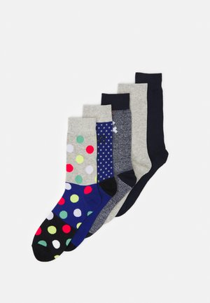 JACBLUEISH SOCK 5 PACK - Calze - light grey melange/galaxy blue