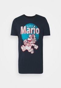 Jack & Jones - JCOSUPER MARIO  - Print T-shirt - navy blazer - 3
