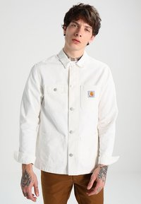 Carhartt WIP - MICHIGAN CHORE NEWCOMB - Summer jacket - off-white - 0