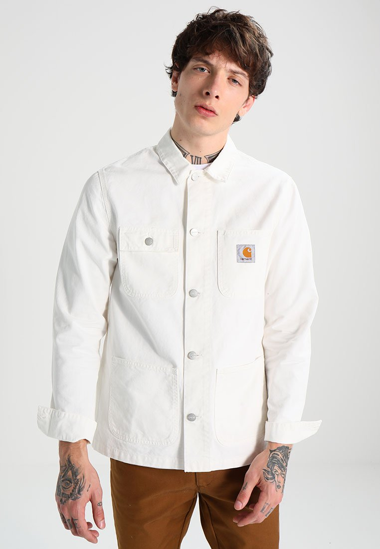 Carhartt WIP - MICHIGAN CHORE NEWCOMB - Summer jacket - off-white