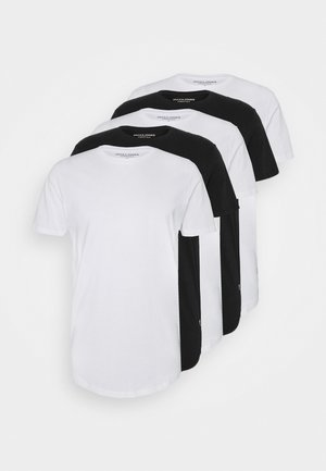 JJENOA TEE CREW NECK 5 PACK - T-shirts basic - white/black