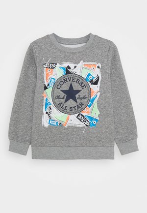 SNEAKER CHUCK PATCH CREW - Bluza - dark grey heather