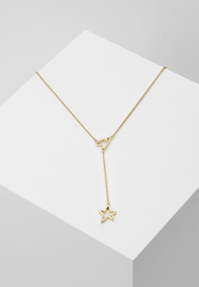 OPEN HEART & STAR - Náhrdelník - gold-coloured