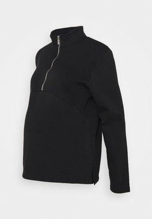 MATERNITY ZIP FRONT - Sweatshirt - black
