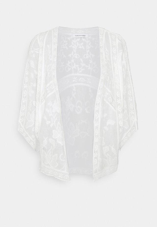 VALERIE EMBROIDERED KIMONO - Lehká bunda - white