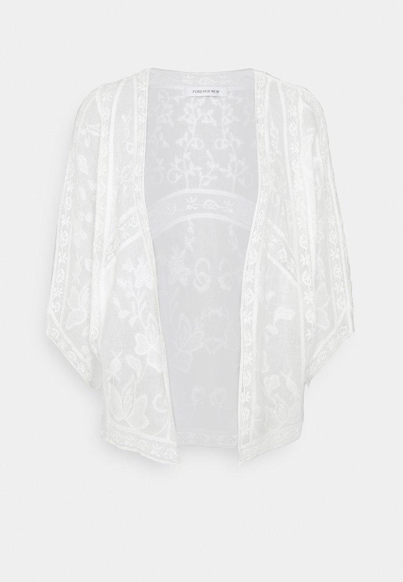 Forever New - VALERIE EMBROIDERED KIMONO - Kevyt takki - white