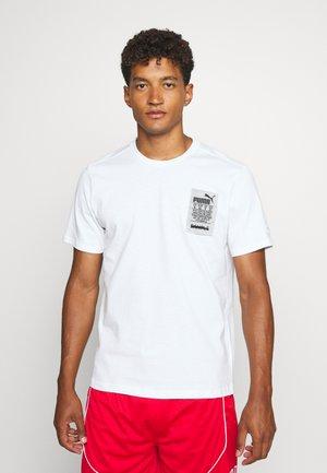 HOOPS TEE - T-Shirt print - white