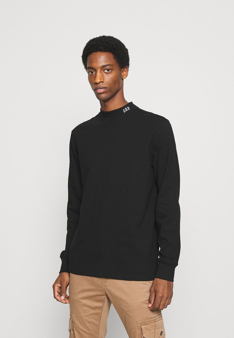 GAP - LOGO MOCK - Long sleeved top - true black