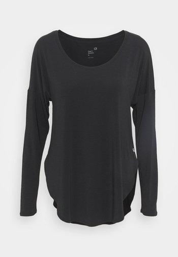 BREATHE - Maglietta a manica lunga - true black